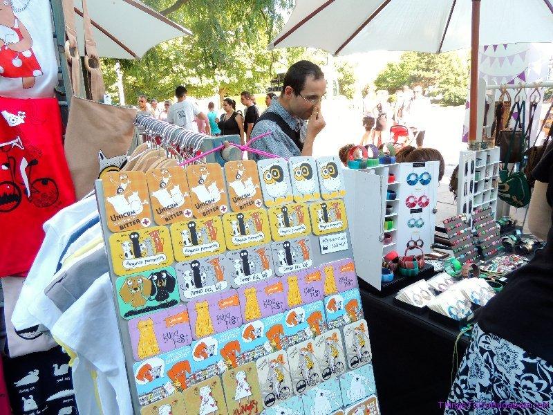 Budapest Wamp Design Goods at Market in City Center