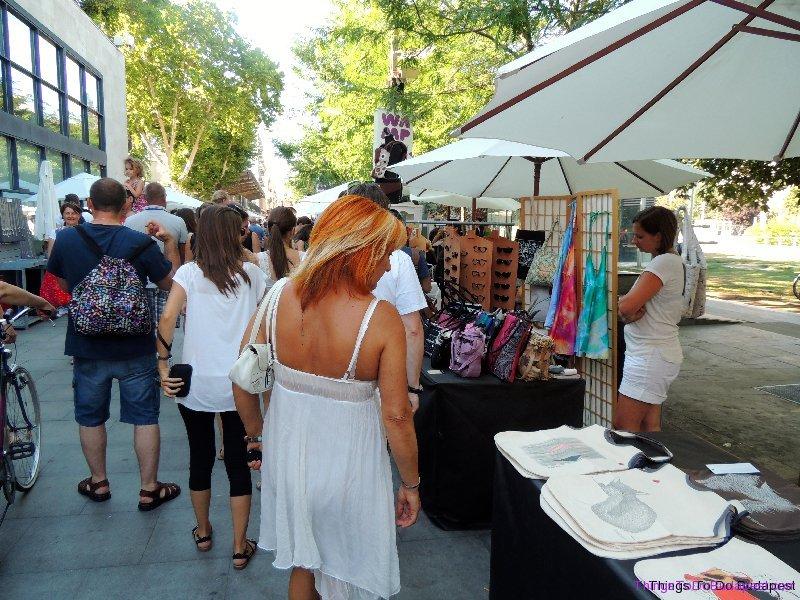 Budapest Wamp Design Market on Erzsebet Ter