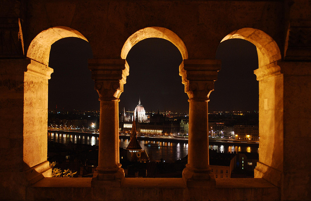 Budapest Riverfront from the Castle