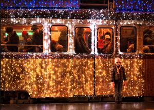 Tram 2 Christmas Streetcar Budapest